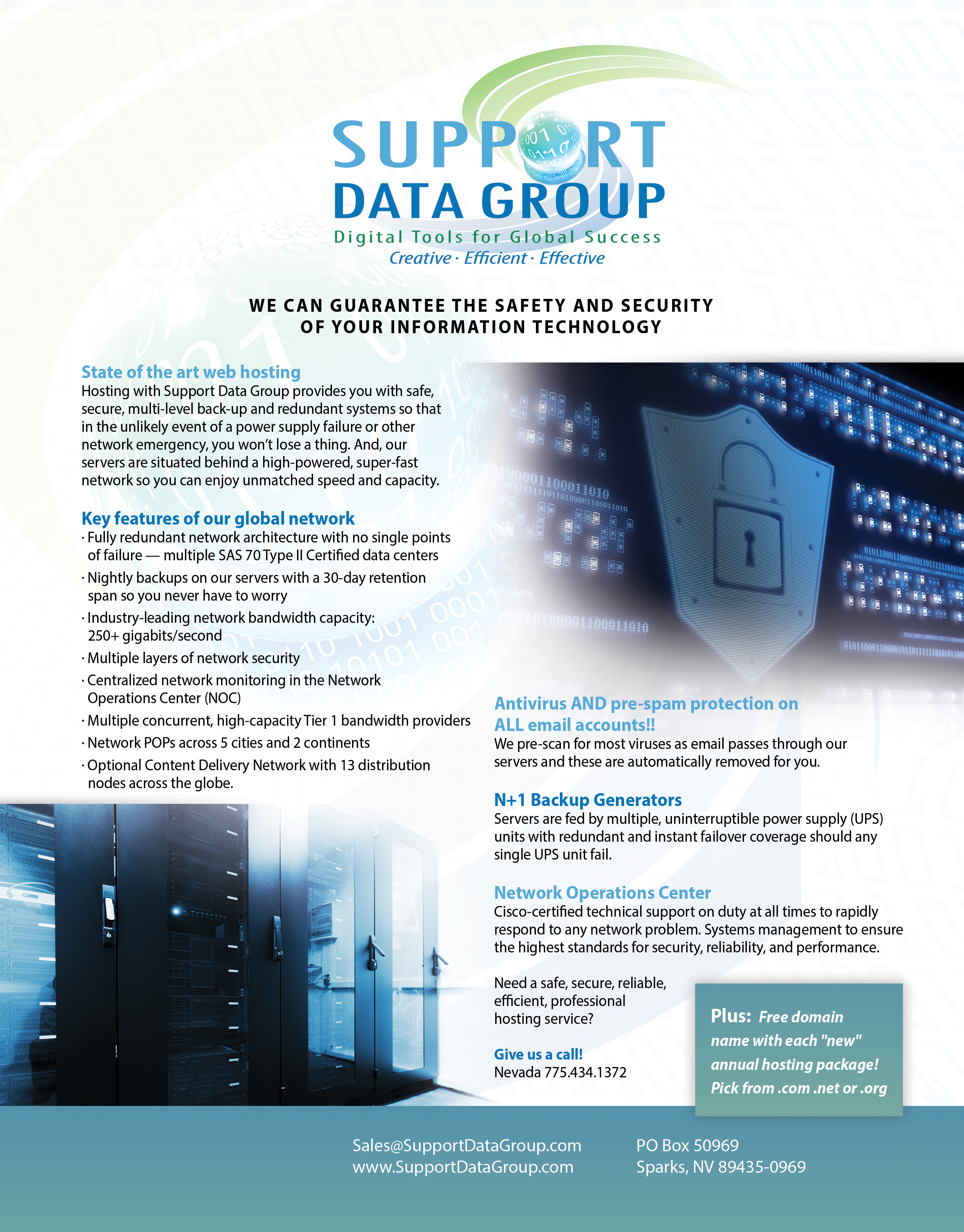 Support Data Group - Why Choose Us Printable Handouts